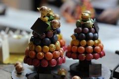 Dessert creations. Small gourmet dessert creations for everyone Stock Photos