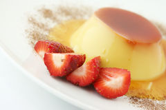 Dessert; Creme caramel Royalty Free Stock Photo