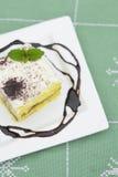 Dessert cremoso Fotografia Stock Libera da Diritti