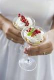 Dessert cremoso Immagine Stock
