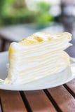 Dessert crepe cakes Royalty Free Stock Photo