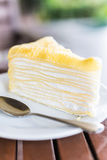 Dessert crepe cakes Royalty Free Stock Photography