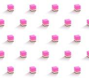 Dessert Cubes Pattern stock illustration