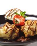 Dessert - Custard Pastry Stock Photo