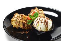 Dessert - Custard Pastry Stock Photography