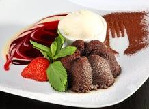 Dessert délicieux de chocolat images stock