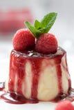 Dessert délicieux de cotta de panna photographie stock libre de droits