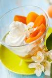 Dessert d'abricot photo libre de droits