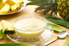 Dessert d'ananas Photo stock