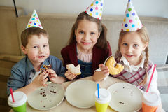Dessert d'anniversaire Photographie stock