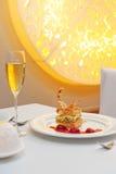 Dessert dans le restaurant Photographie stock