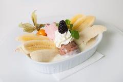 Dessert de banana split Images stock