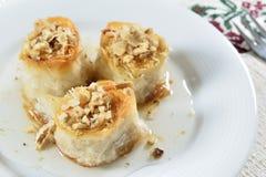 Dessert de bonbon à baklava Images libres de droits