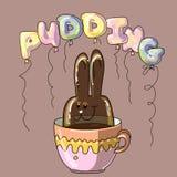 Dessert de bonbon à pudding Photographie stock libre de droits