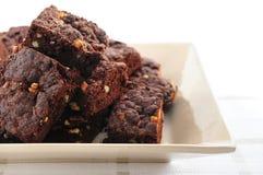 Dessert de 'brownie' Photographie stock libre de droits