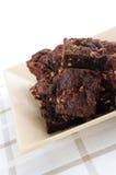 Dessert de 'brownie' Photographie stock