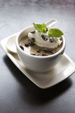 dessert de café de chocolat d'haricot Photos stock