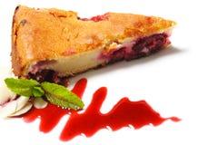 Dessert - de Cake van Kersen Royalty-vrije Stock Afbeelding