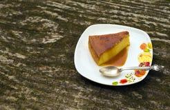 Dessert de caramel de crème de Flan Photographie stock libre de droits