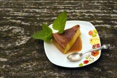 Dessert de caramel de crème de Flan Photos stock