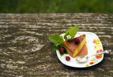 Dessert de caramel de crème de Flan Image stock
