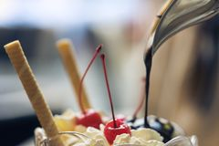 Dessert de chocolat Image stock