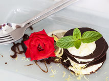 Dessert de chocolat Image libre de droits