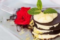 Dessert de chocolat Images libres de droits