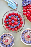 Dessert de chocolat avec des baies Images libres de droits