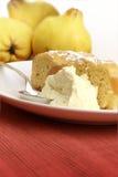Dessert de coing avec le fruit Image stock