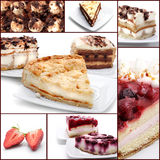 dessert de collage photos stock