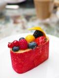 Dessert de compote de fruits Photos libres de droits
