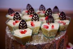 Dessert de crème anglaise Photographie stock libre de droits
