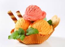 Dessert de crème glacée  photographie stock