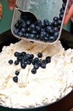 Dessert de crème glacée de meringue Image stock