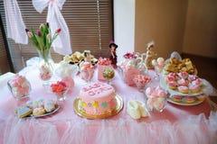 Dessert de fête de naissance Photographie stock