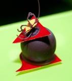 Dessert de fantaisie de chocolat photographie stock libre de droits