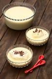 Dessert de flottement d'île Image stock
