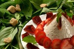 Dessert de fraise Photographie stock libre de droits
