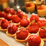Dessert de fraise Photo stock