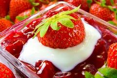 Dessert de fraise Image stock