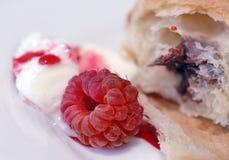 Dessert de framboise Photographie stock libre de droits