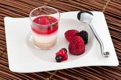 Dessert de Français de framboise Image stock