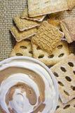 Dessert de fromage d'ottage de ¡ de Ð avec des biscuits Images stock