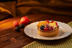 Dessert de fruit image stock