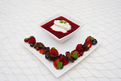 Dessert de fruit photo stock