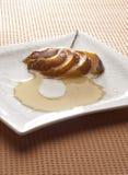 Dessert de fruit de chef Photo stock