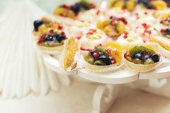 Dessert de fruits frais dans la cuvette image libre de droits