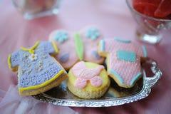 Dessert de fête de naissance Image stock