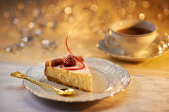 Dessert de gâteau au fromage Photos libres de droits